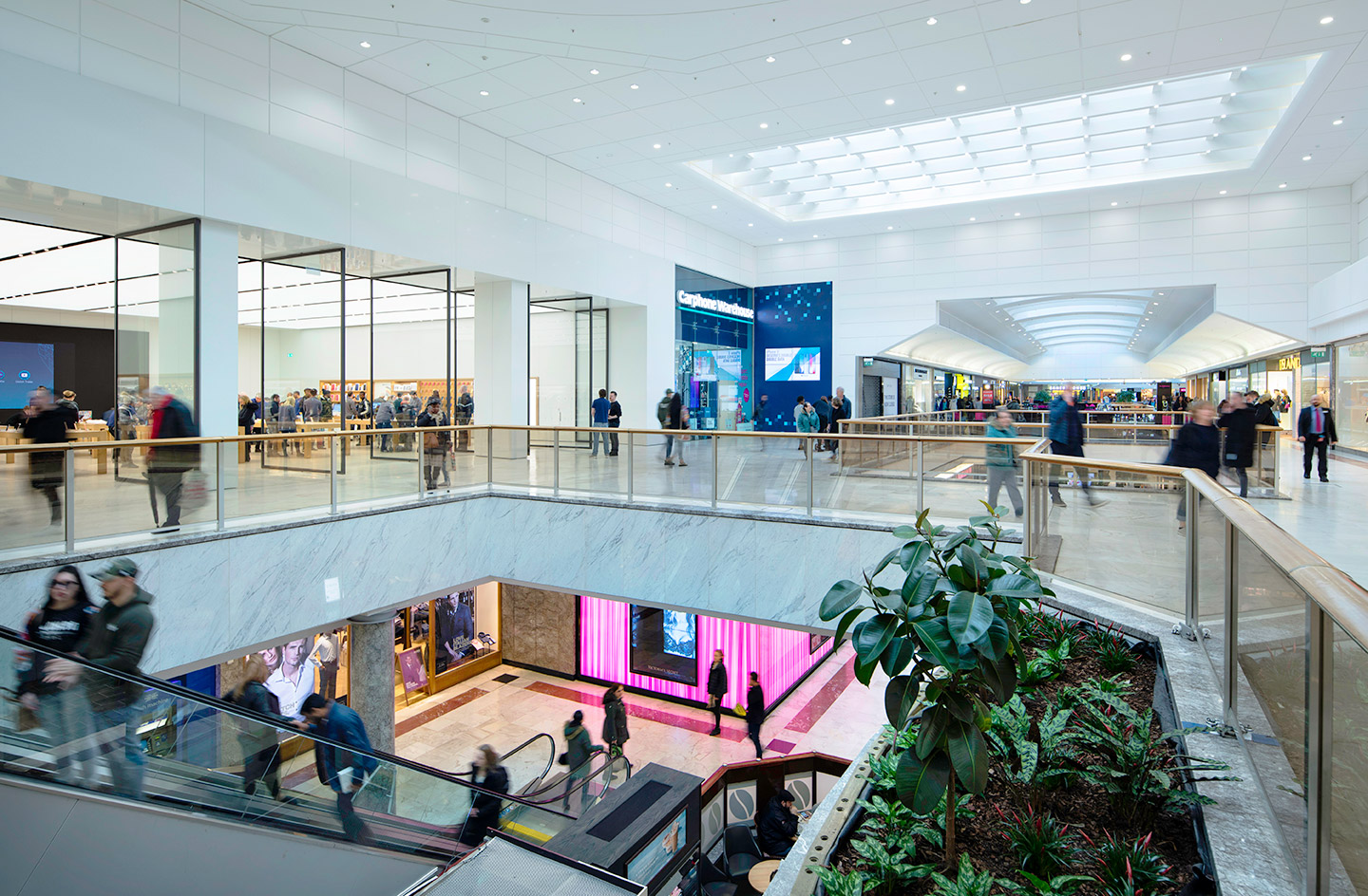 CG image of Brent Cross London shopping centre interior