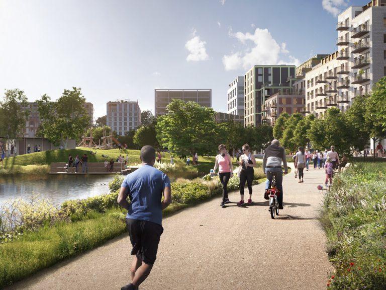 A CGI image of Claremont Park