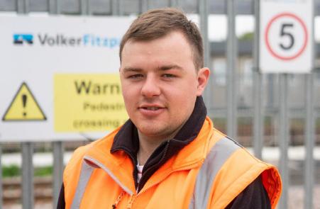 Brent Cross West station apprentice Matthew Perrin