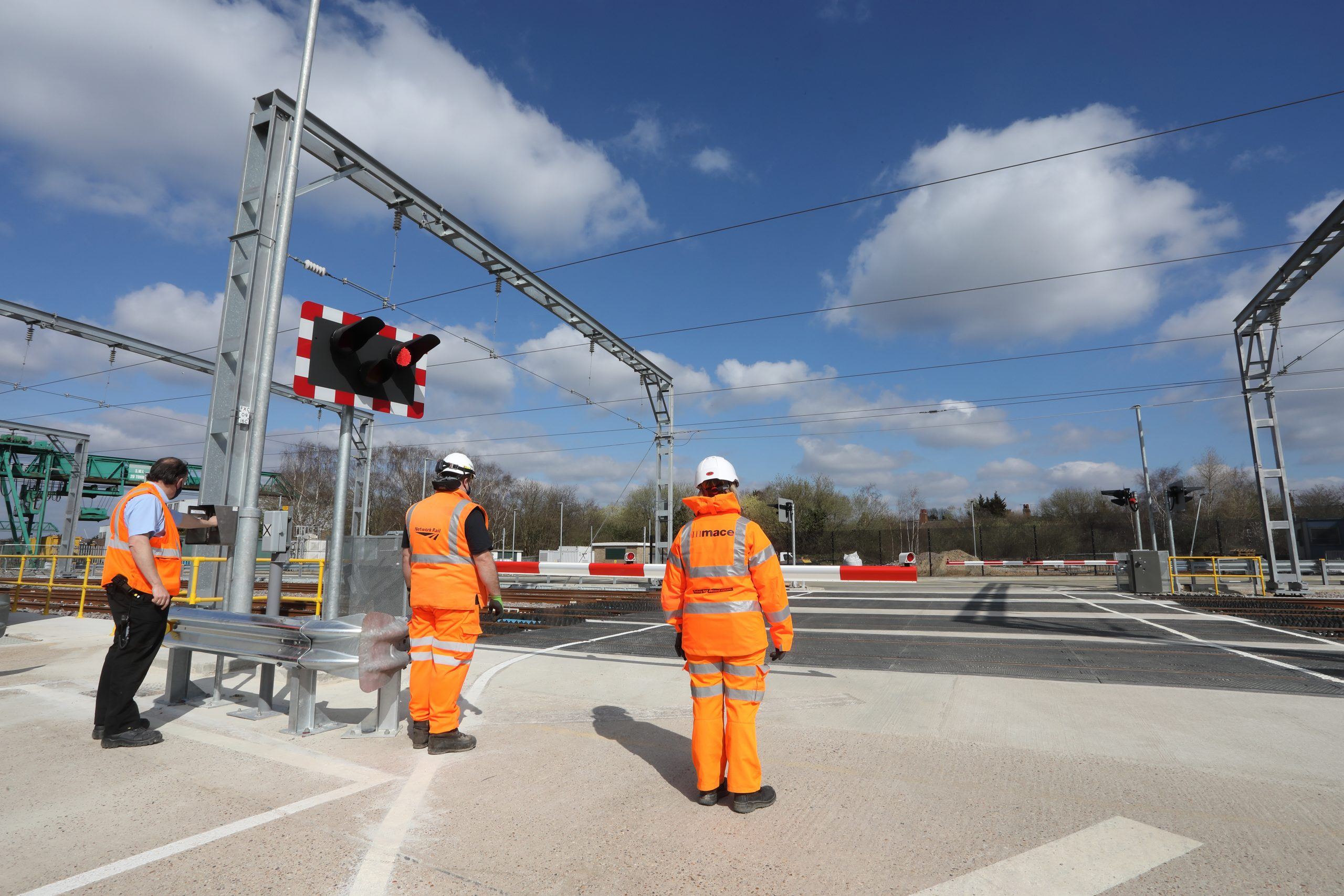 Brent Cross West March 2021 lxxiii New level crossing Network Rail Local operations manager Robin Morel