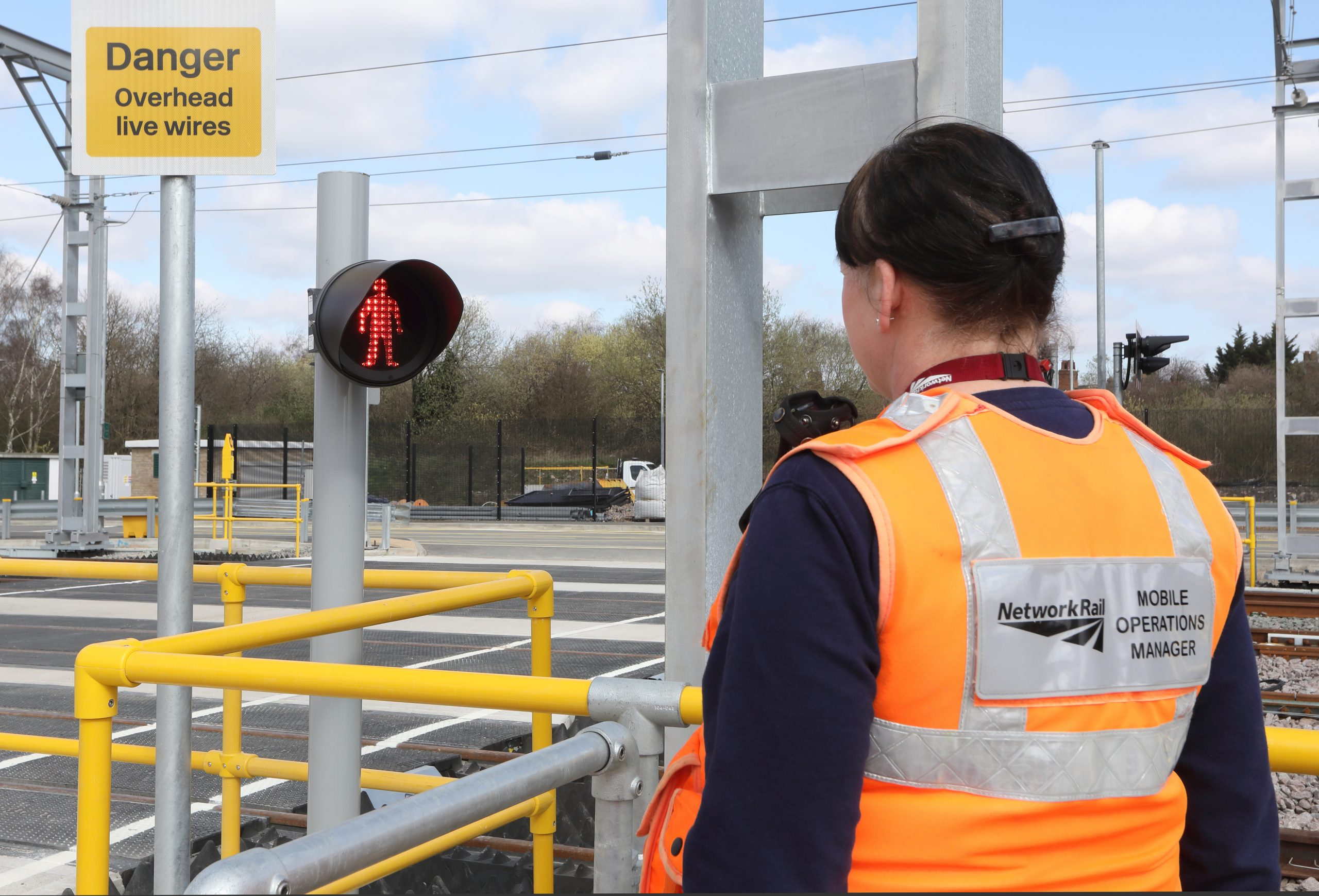 Brent Cross West March 2021 lxxxi New level crossing Network Rail Mobile operations manager Michelle Gull