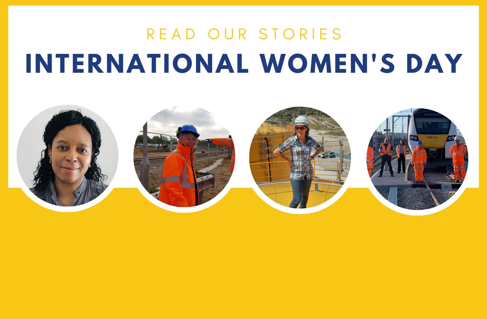 The four women featured in our 2021 International Women's Day story: Angela Latty, Karen Mercer, Isa Ribeiro, and Sam Wadsworth