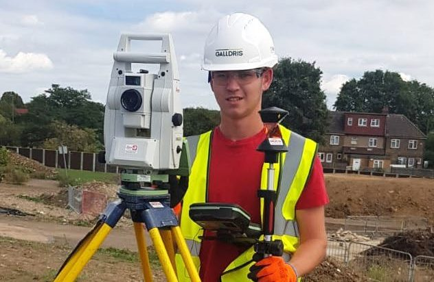 A groundworker in his work clothing