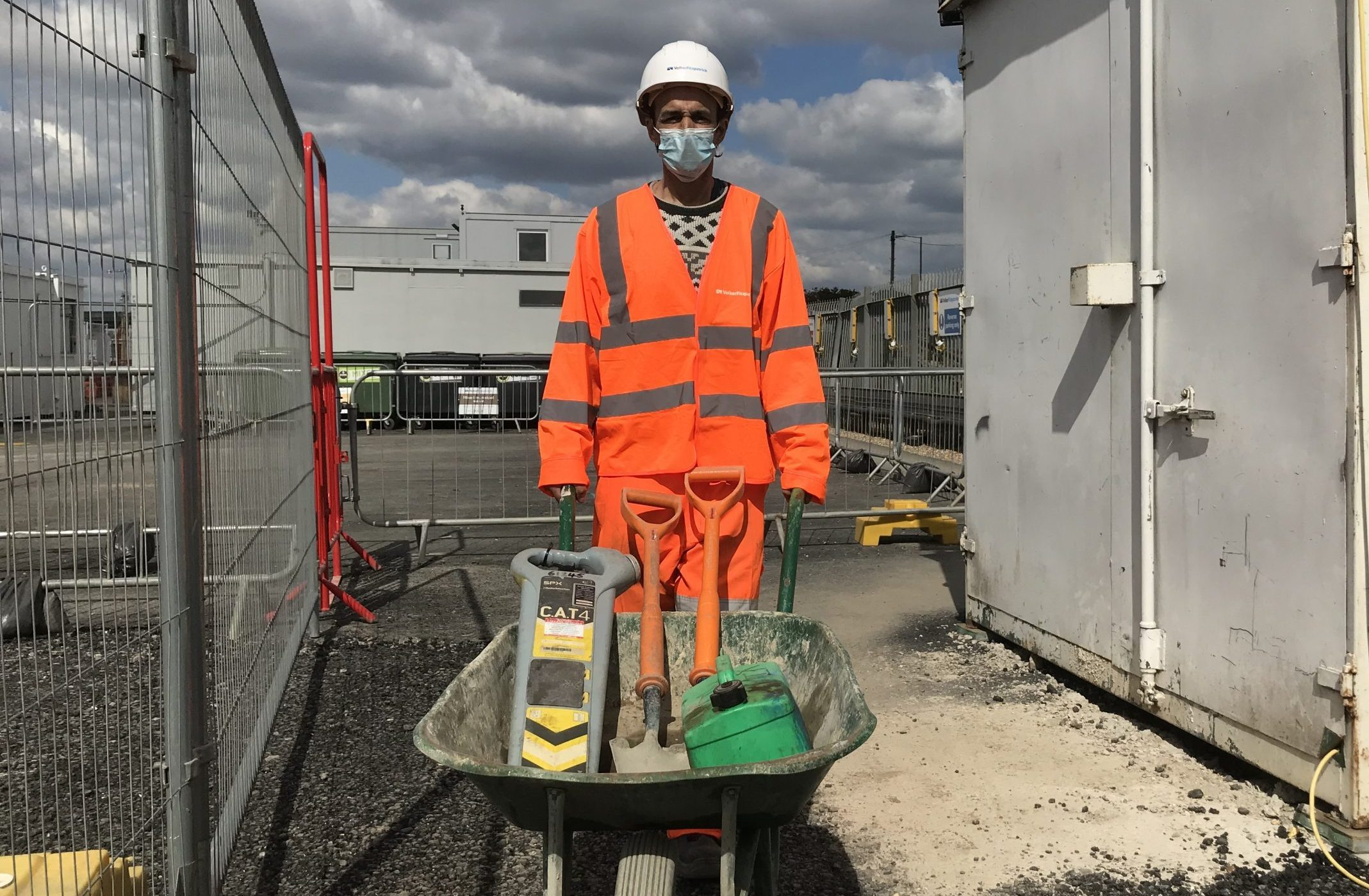 Tony Sebastiao at work on Brent Cross West station