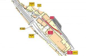 Map of Geron Way temporary lane closure traffic management plan