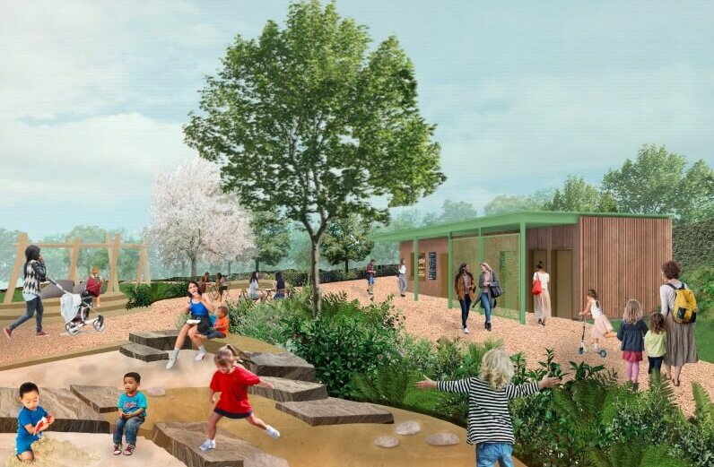 How the kiosk at Claremont Park is expected to look