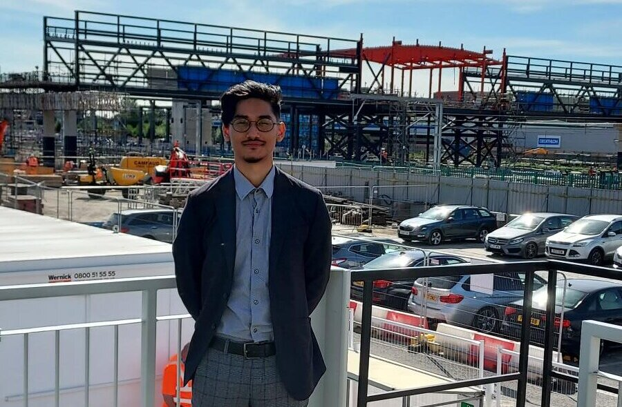 Community liaison advisor Injesh Khadka at Brent Cross West station