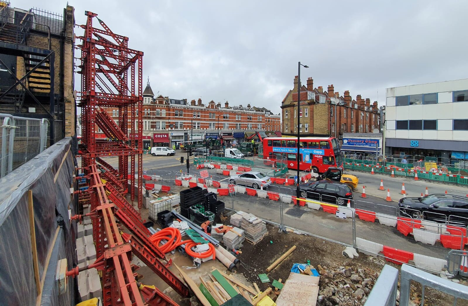 The highways improvements at the A5 Cricklewood Broadway junction with Cricklewood Lane and Chichele Road